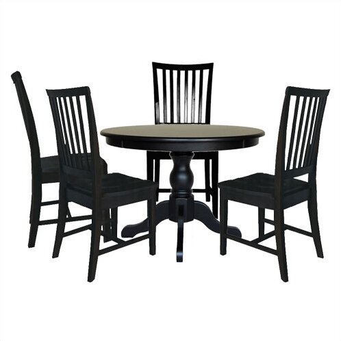 Biermann 5 Piece Solid Wood Dining Set by Andover Mills