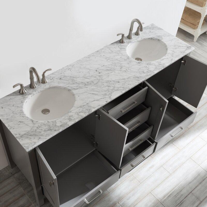 Newtown 72 Double Bathroom Vanity Set