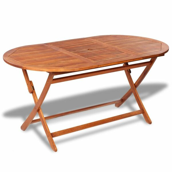 Folding  Solid Wood Dining Table by Breakwater Bay