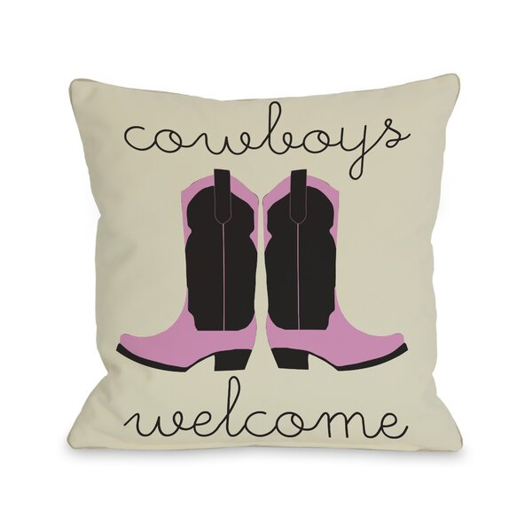 Cowboys Welcome Throw Pillow by One Bella Casa