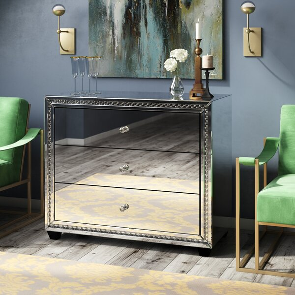 Laster Crystal 3 Drawer Accent Chest by Rosdorf Park Rosdorf Park