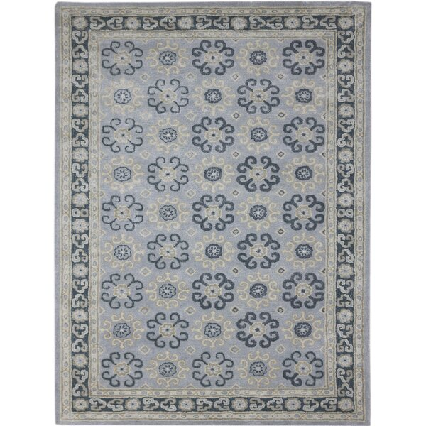 Paxtonville Hand-Tufted Blue Area Rug by Charlton Home