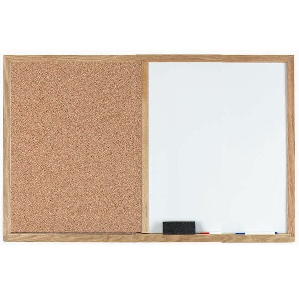 Combination Wall Mounted Bulletin Board by AARCO