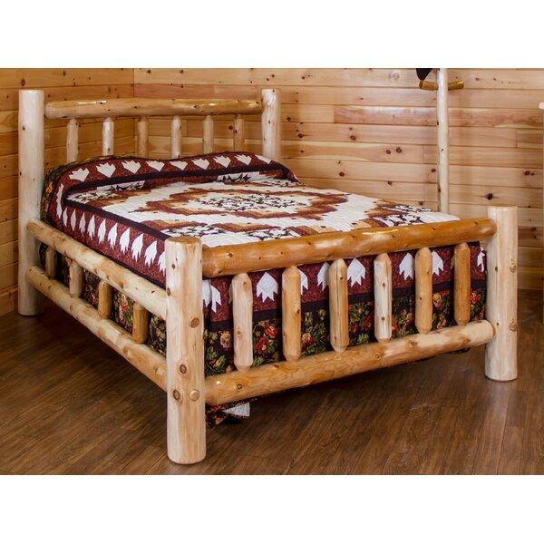 Trumbull Rustic White Cedar Log Double Side Rail Standard Bed By Loon Peak by Loon Peak 2020 Sale