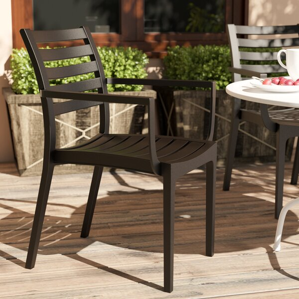 Nikoleta Stacking Patio Dining Chair (Set of 4) by