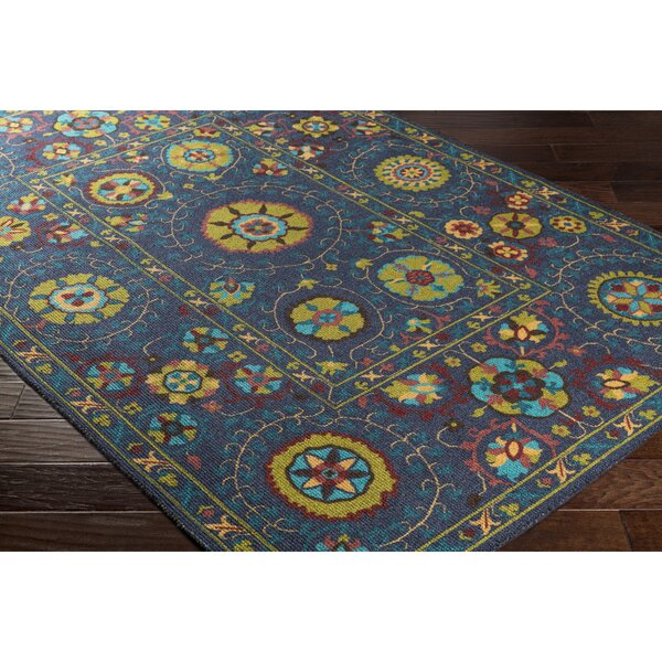 Emmie Blue/Green Area Rug by Bungalow Rose