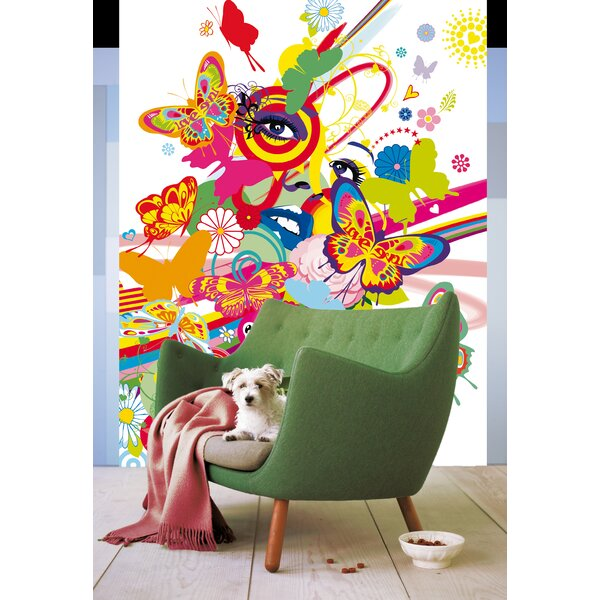 Ideal Decor Floral Girl Wall Mural by Brewster Home Fashions
