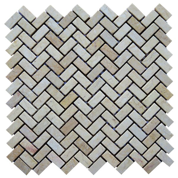 Pescaro 0.6 x 1.3 Natural Stone Mosaic Tile in Beige by NovoTileStudio