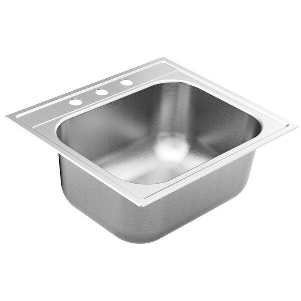 1800 Series Stainless Steel 25 L x 22 W Drop-In Bar Sink