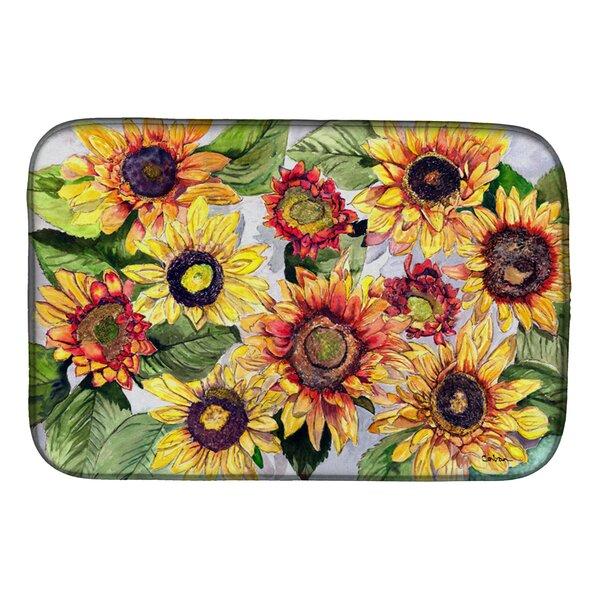 Sunflowers Dish Drying Mat by Caroline's Treasures