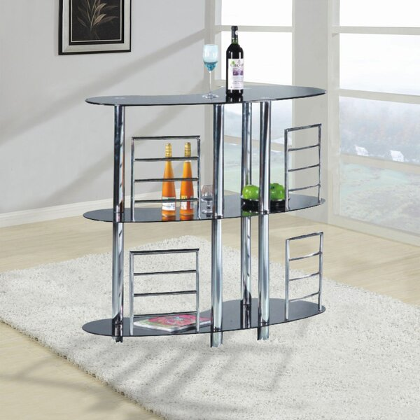 Lohmann Bar with Wine Storage by Hazelwood Home