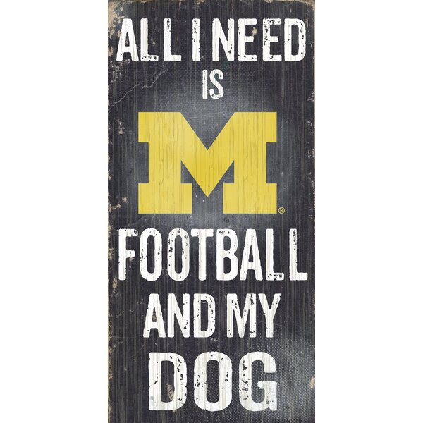 NCAA Football and My Dog Textual Art Plaque by Fan Creations
