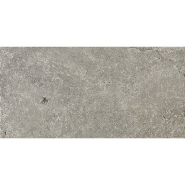 Travertine 8 x 16 Field Tile in Ancient Tumbled Silver by Emser Tile