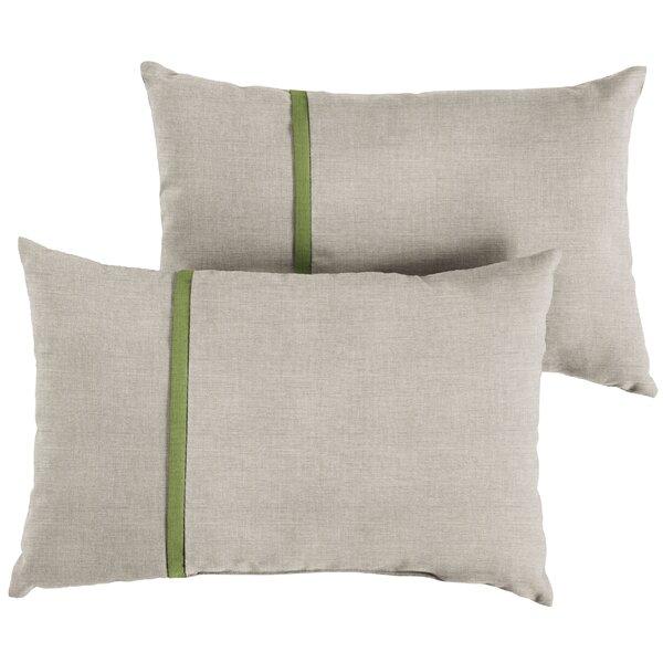 Hoehn Indoor/Outdoor Lumbar Pillow (Set of 2) by Latitude Run