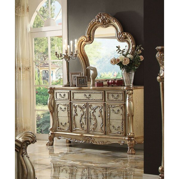 Selma 7 Drawer Combo Dresser with Mirror by Astoria Grand
