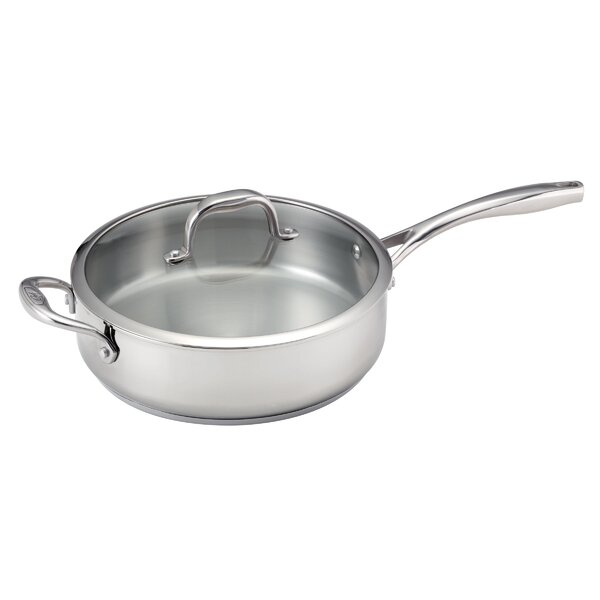 5-qt Deep Stainless Steel Saute Pan with Lid by Guy Fieri