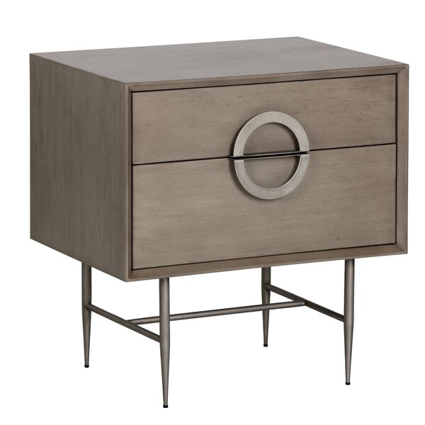 Emery Sunpan Modern 2 Drawer Nightstand by Sunpan Modern