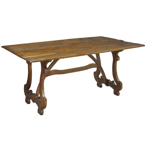 Calambac Solid Wood Dining Table by Sarreid Ltd Sarreid Ltd