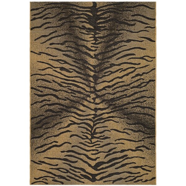 Catori Light Black/Natural Outdoor Rug by World Menagerie