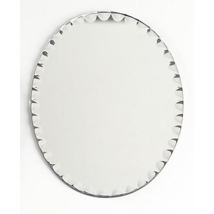 House of Hampton Wimer Scalloped Edge Oval Accent Mirror (Set of 6)