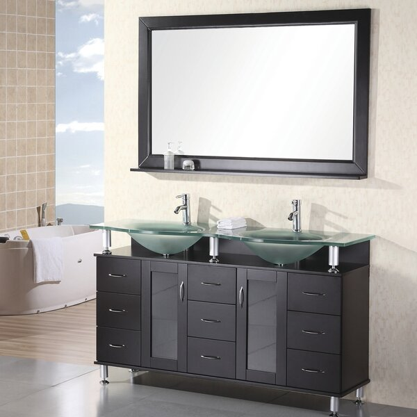 Mateo 61 Double Bathroom Vanity Set with Mirror by Home Loft Concepts