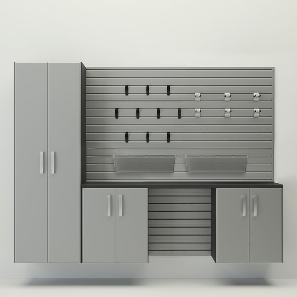 Deluxe 96 H x 96 W x 20 D Storage Cabinet Set by Flow Wall