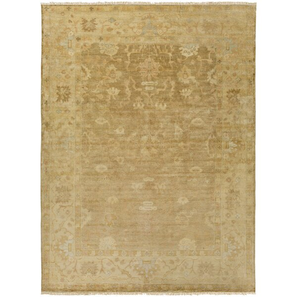Kangley Traditional Wool Beige Area Rug by Alcott Hill