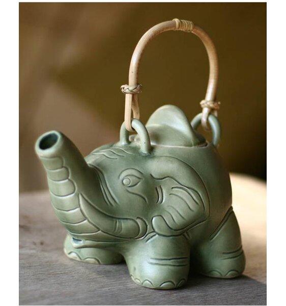Elephant Teapot Figurine by Novica