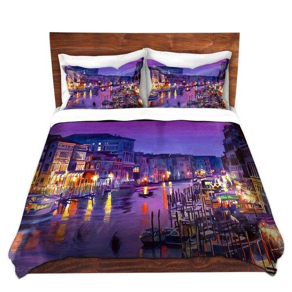 Romantic Venice Night Duvet Set by DiaNoche Designs