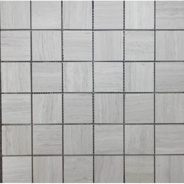 2 x 2 Mosaic Tile in Wooden White by Ephesus Stones