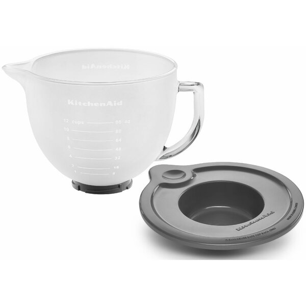 5 Qt. Frosted Glass Bowl for Tilt-Head Stand Mixers by KitchenAid