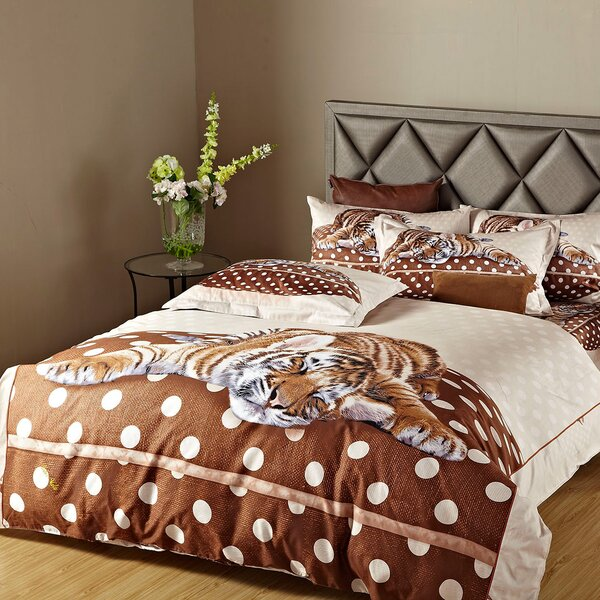 Sleepy Tiger Duvet Cover Set by Dolce Mela