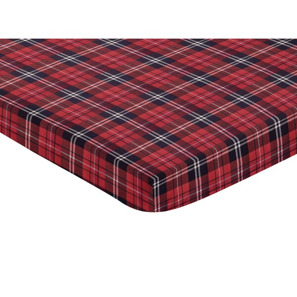 Rustic Patch Plaid Fitted Crib Sheet by Sweet Jojo Designs