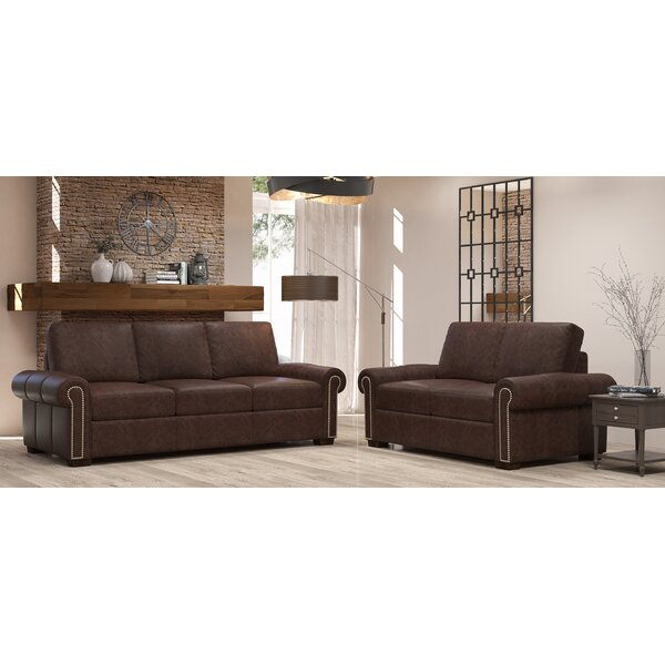 Burke 2 Piece Leather Living Room Set by Westland and Birch Westland and Birch