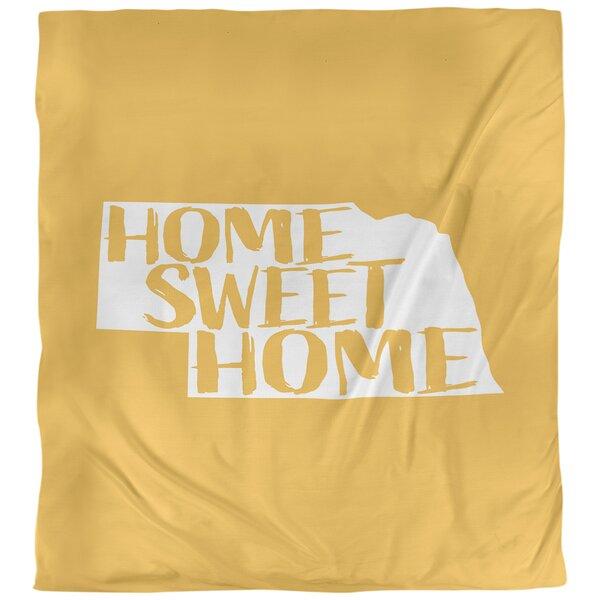 Home Sweet Nebraska Duvet Cover