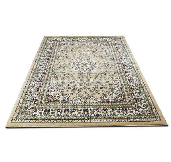 Roksanda Traditional Oriental Ivory Area Rug by Darby Home Co