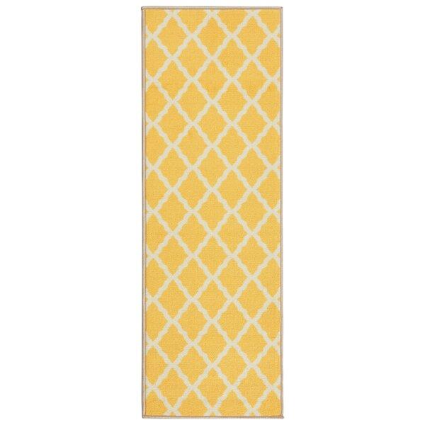 Staunton Yellow Area Rug by Charlton Home