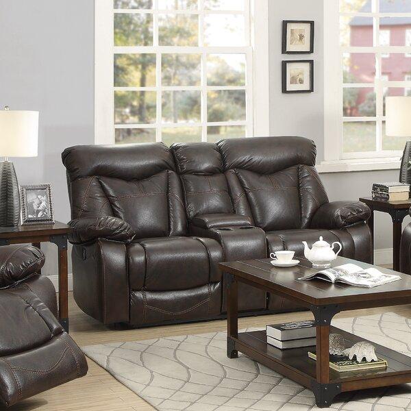 Pomona Motion Leather Reclining Sofa By Loon Peak