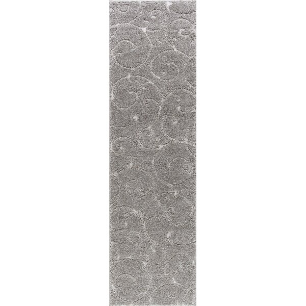 Edda Scrollwork Gray Area Rug by Darby Home Co