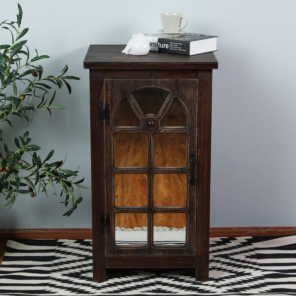 Manuel Mirror Small Console 1 Door Accent Cabinet by Millwood Pines