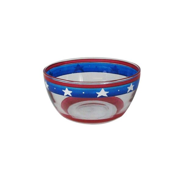 Aria Stars and Stripes Dessert Bowl by The Holiday Aisle