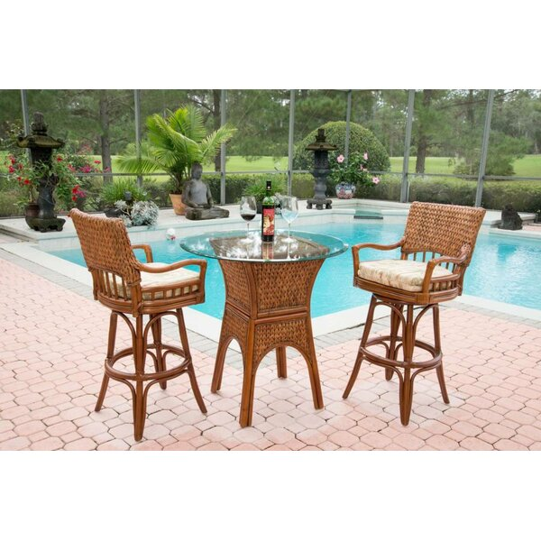 Pringle 3 Piece Counter Height Dining Set by Bay Isle Home