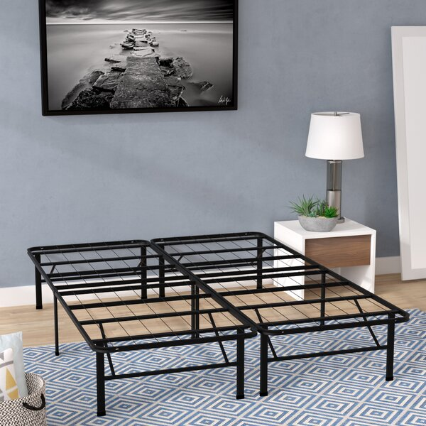 Innovative Bed Frame Foundation with Skirt & Brackets by Alwyn Home