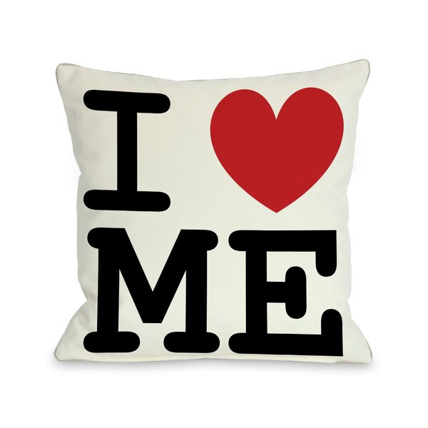 I Heart Me Throw Pillow by One Bella Casa