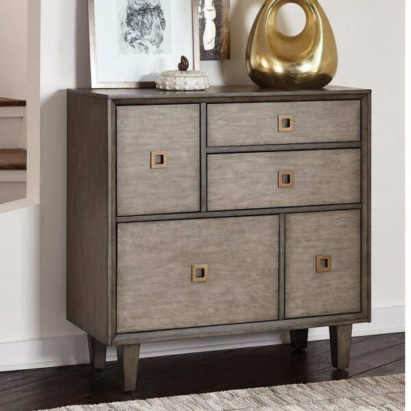 Kensa Sophisticated 5 Drawer Accent Chest by Ivy Bronx