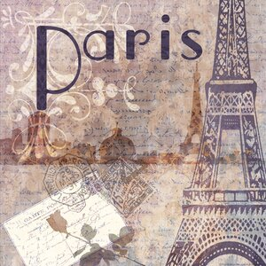 'Around the World in Paris' by Jill Meyer Graphic Art on Wrapped Canvas by Buy Art For Less