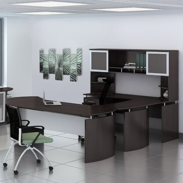 Medina Series 3-Piece U-Shape Desk Office Suite by Mayline Group