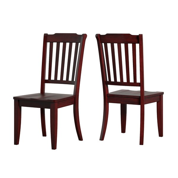 Best #1 Huling Solid Wood Dining Chair (Set Of 2) By Three Posts No Copoun