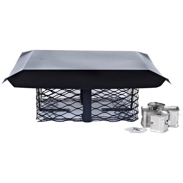 Single-Flue Adjustable Galvanized Steel Chimney Cap by Shelter