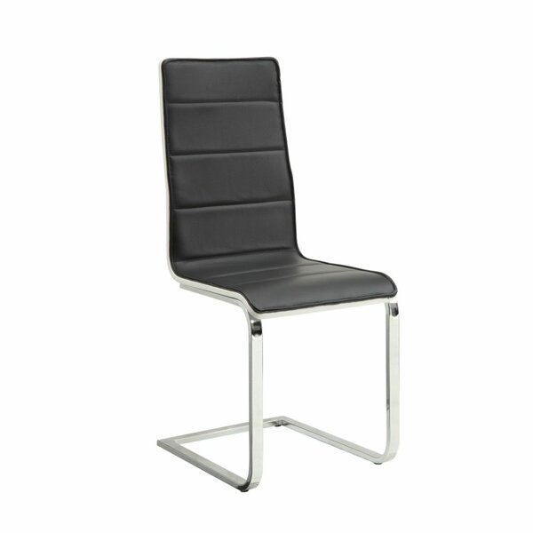 Umaiza Tufted Upholstered Side Dining Chair In Black/Silver (Set Of 4) By Orren Ellis